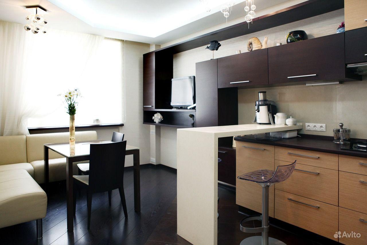 Кухня-студия дизайн интерьера