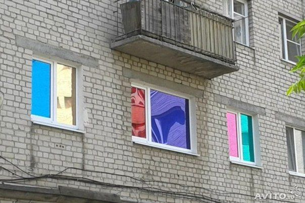 Чем затемнить окна на балконе своими руками 98
