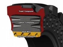 Цельнолитая шина в сборе с диском 10х16,5 McLaren