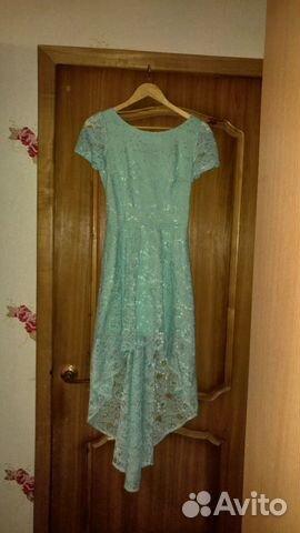 Платье сзади длинное