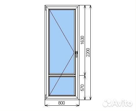 Готовая балконная дверь пвх 900х2000 мм в наличии festima.ru.