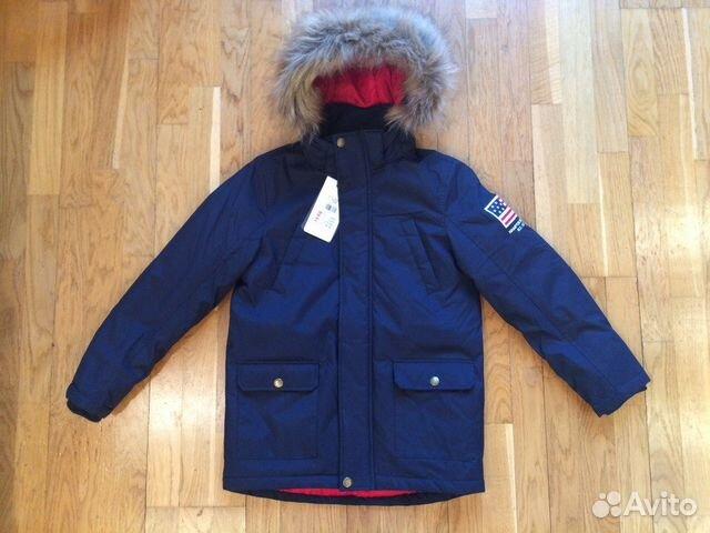 Зимняя куртка-парка на мальчика р128 купить в Санкт-Петербурге на ... 2991ba6c8cd