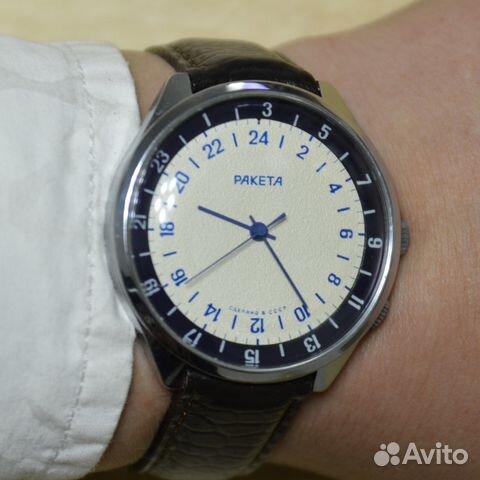 3944e3d0aca01 Ракета 24 часа наручные механические часы СССР в купить в Москве на ...