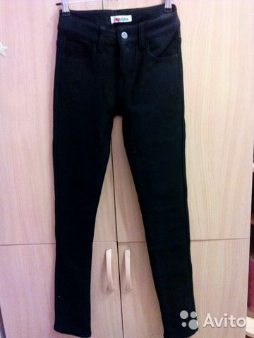 36a4559b048 Утепленные черные джинсы купить в Липецкой области на Avito ...