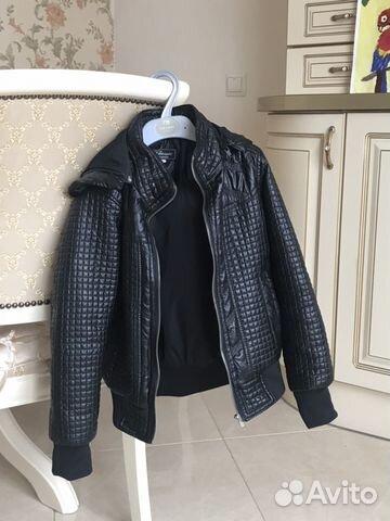 Куртка для мальчика демисезонная, 122-128, кожзам 89200027062 купить 1