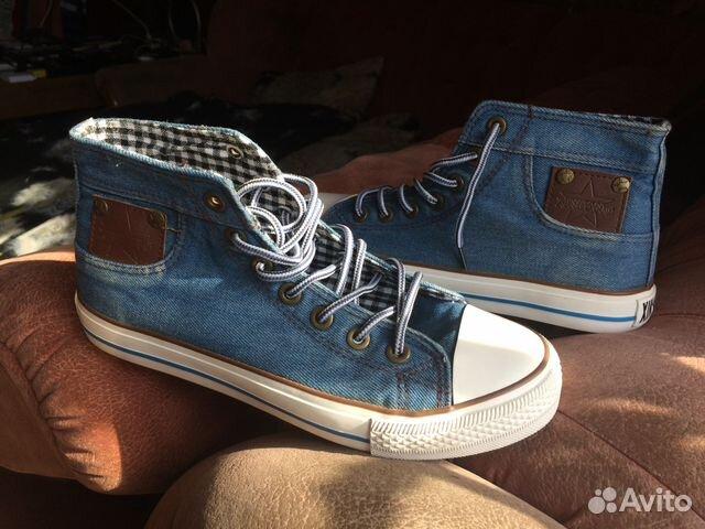 e3214c07 Продам новые кеды из джинсовой ткани купить в Новосибирской области ...
