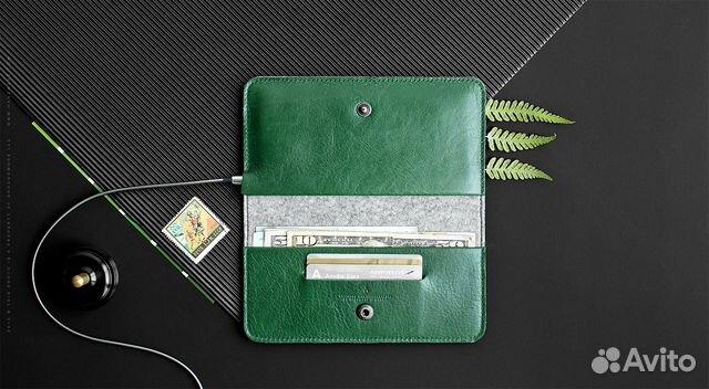 e348f5d88485 Кожаный чехол-бумажник Ranch для iPhone se (5,5S) купить в Ханты ...