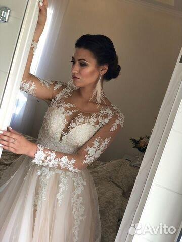 479e82d5543 Свадебное платье с рукавами