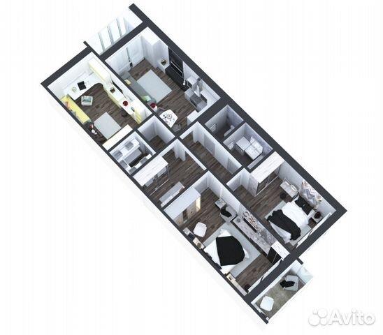 4-к квартира, 92.2 м², 10/16 эт.
