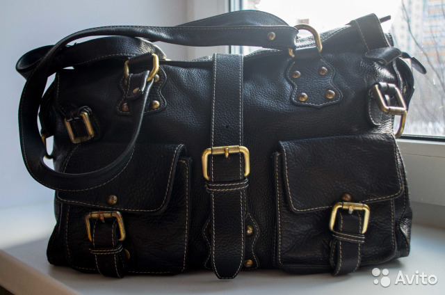 f98e8b8001e4 Женская сумка черная кожаная. Celesta купить в Москве на Avito ...