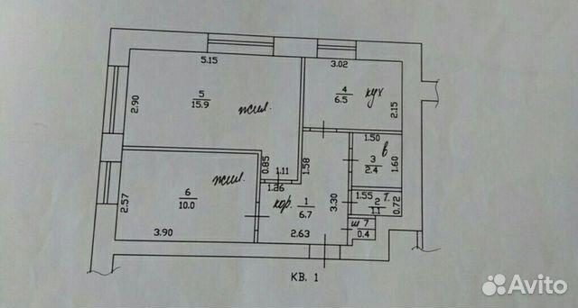Продается двухкомнатная квартира за 900 000 рублей. Смоленская область, Смоленский район, посёлок Плембаза, 24.