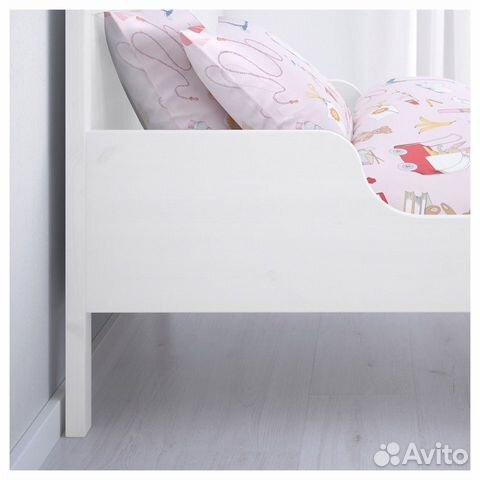 Кровать икеа раздвижная+матрас+реечное дно