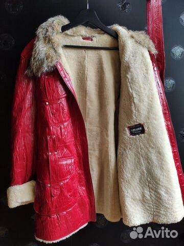 Sheepskin jacket coat