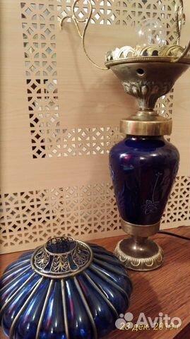 Старинная кобальтовая лампа 89043366666 купить 8