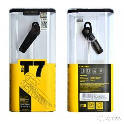 84942303606 Bluetooth гарнитура Remax RB-T7 черная