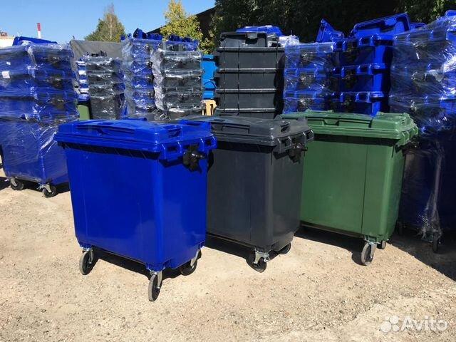 Container für Müll und 1100 L RSO