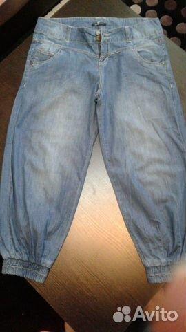 Бриджи джинсовые тонкие
