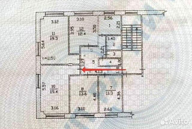Комната 19.4 м² в 5-к, 3/5 эт. 89832725577 купить 1