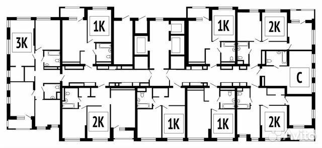 1-к квартира, 34.6 м², 5/26 эт.  89587013490 купить 10