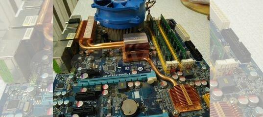 GA-X38 775 + Q9550 4 ядра + 8Гб + куллер
