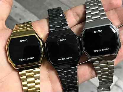 Casio touch watch черный и серый