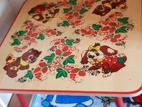 Столик и табурет с росписью
