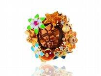Золотое кольцо с бриллиантами 0.05ct Roberto Bravo
