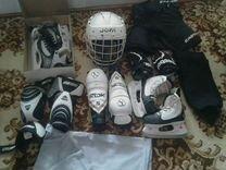 Коньки Graf и хоккейная форма 6-8 лет