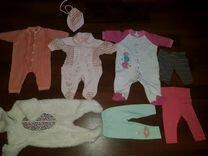 Пакет вещей на девочку от 0 до 6 месяцев