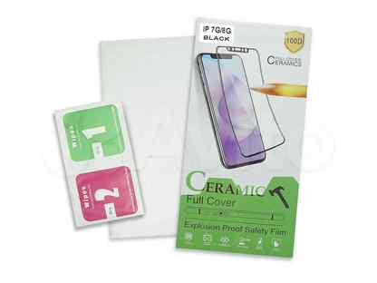 Защитная пленка для iPhone 7\8\SE 2020 ceramic картон черный