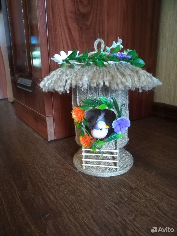 Домик из джута для украшения интерьера  89042052967 купить 2