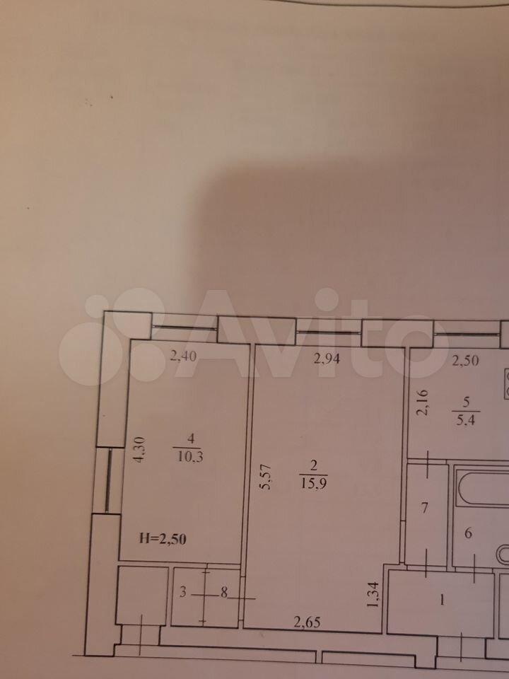 2-к квартира, 40.1 м², 3/5 эт.  89272529829 купить 6