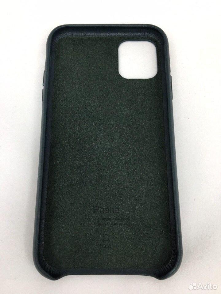 Кожаный чехол Leather Case Apple iPhone 11 Green  89112002770 купить 3