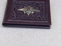 Кожаная обложка для удостоверения с символикой мвд