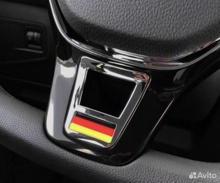 Шильдик на руль VW