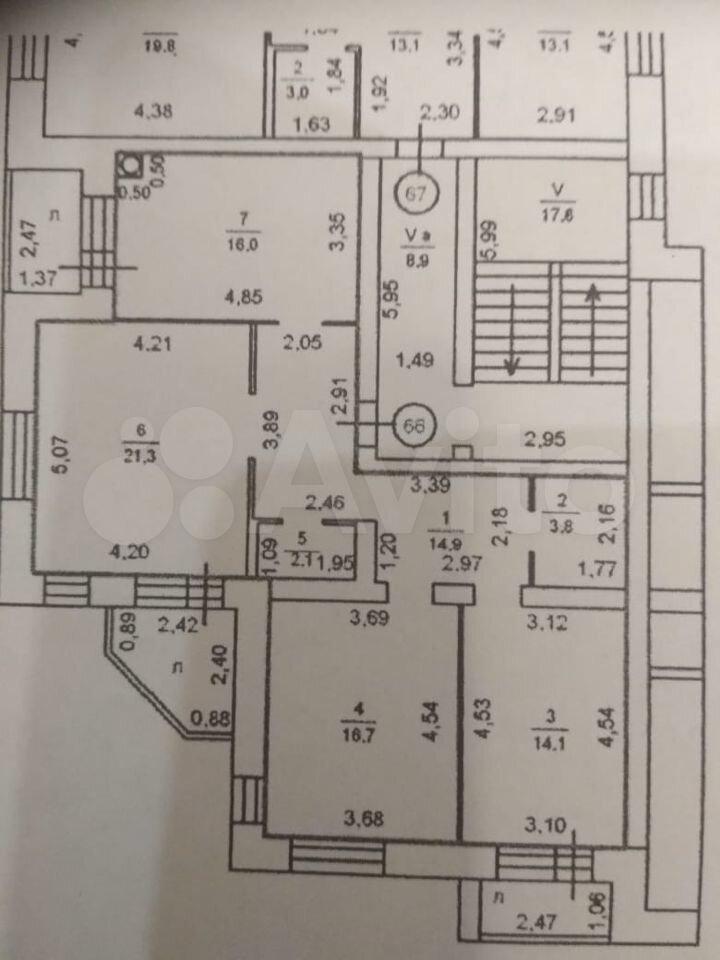 3-к квартира, 92.7 м², 2/5 эт.  89026705042 купить 10