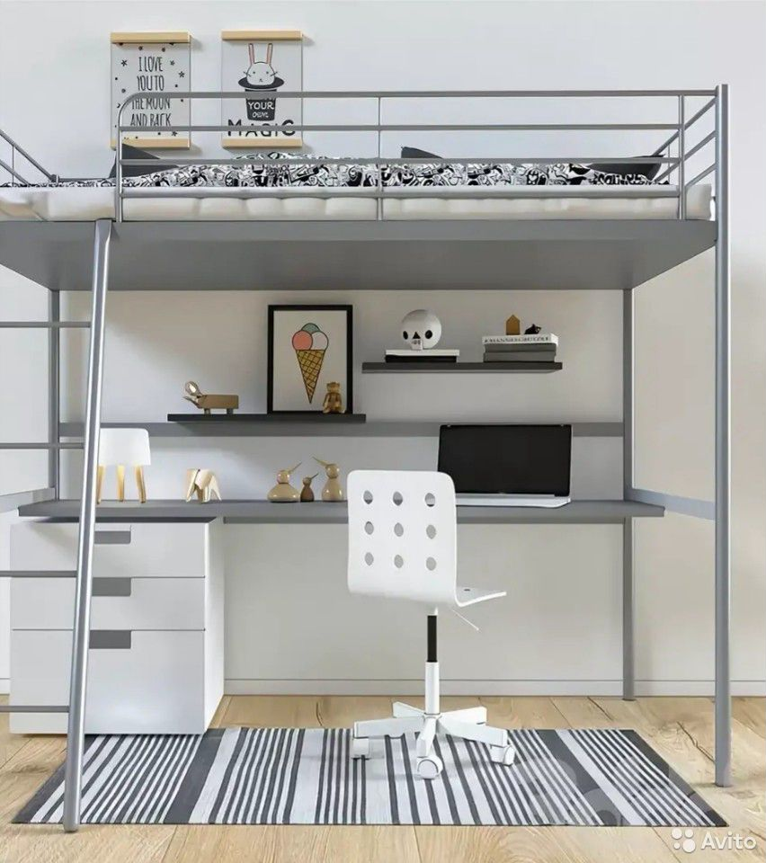 Кровать-чердак IKEA с матрасом